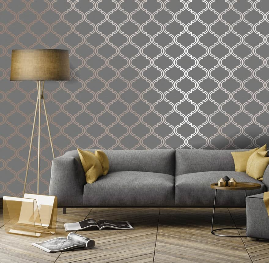 modern wallpaper ideas 2021 metallic effect