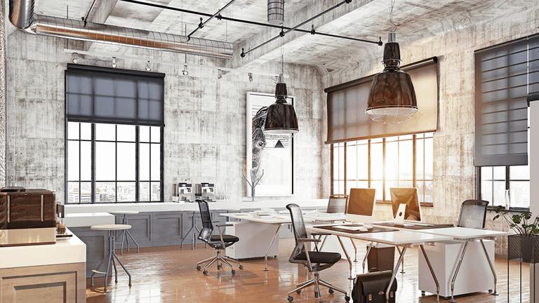 office design 2021 urban industrial style interior