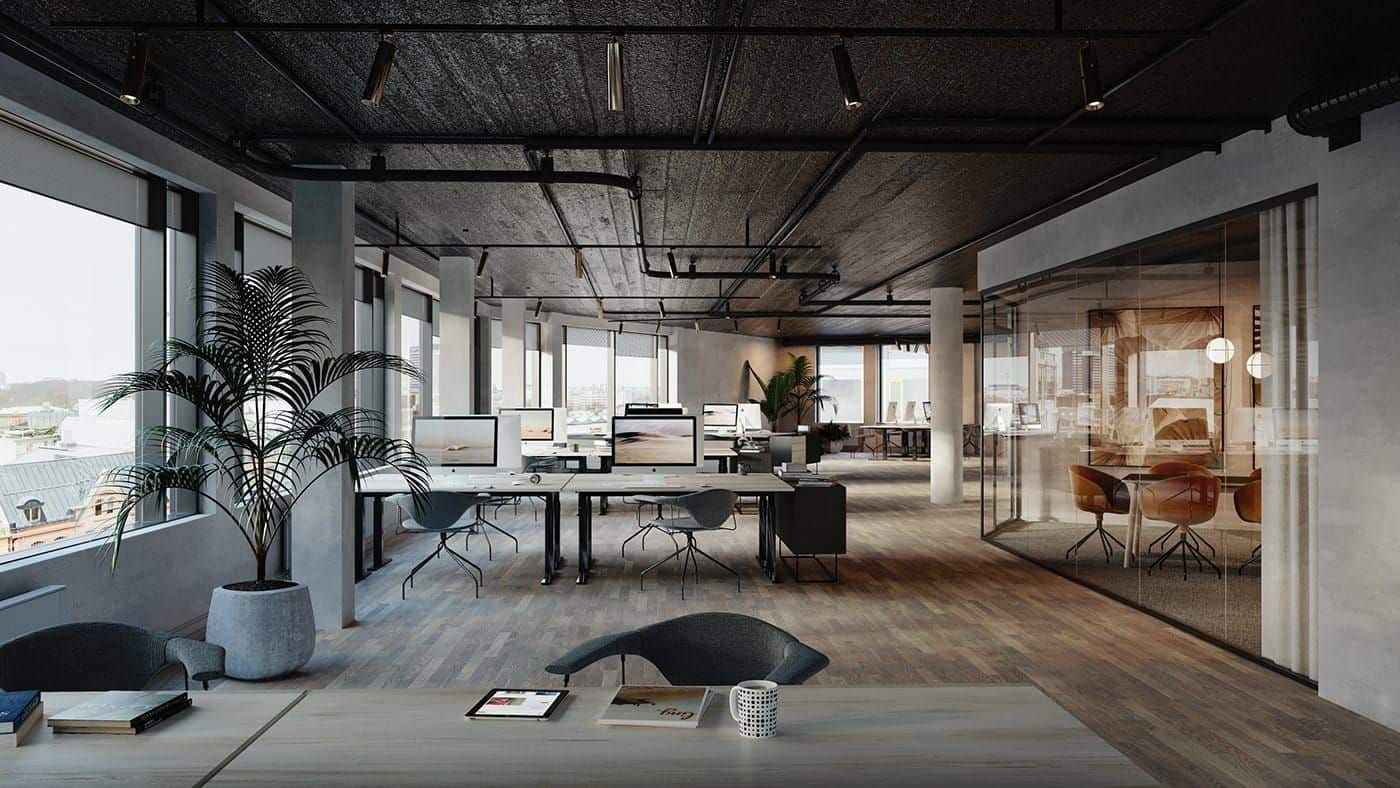 office trends 2021 open-space interior