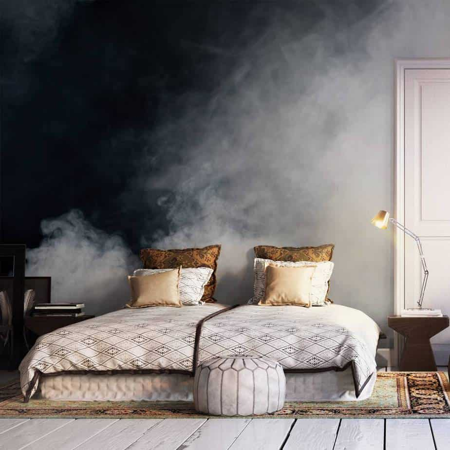 popular bedroom wallpaper ideas 2021 gradient effect
