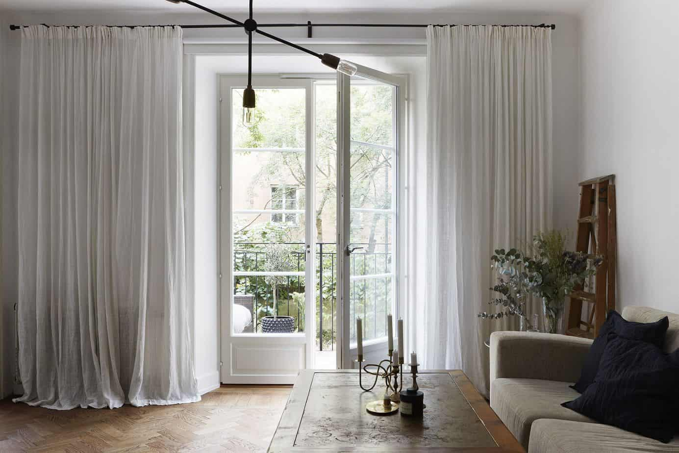 popular curtain ideas 2021 white sheer curtains for living room