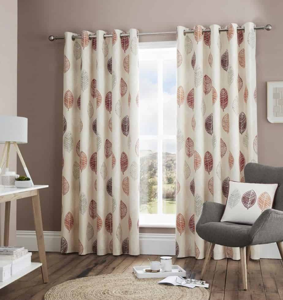 popular curtain trends 2021 scandi leaf curtain design