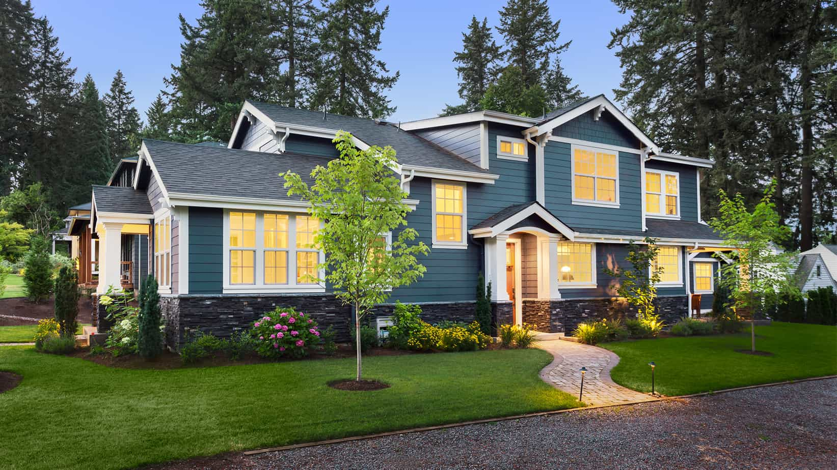 Popular Exterior Color Trends 2021 blue grey paint