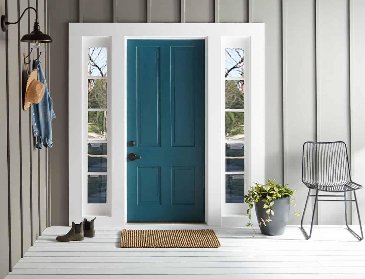 popular exterior trends 2021 blue painted front door