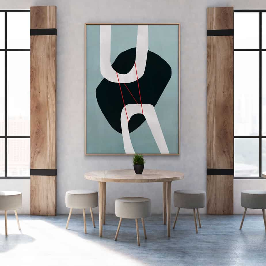 popular home decor trends 2021 abstract wall art