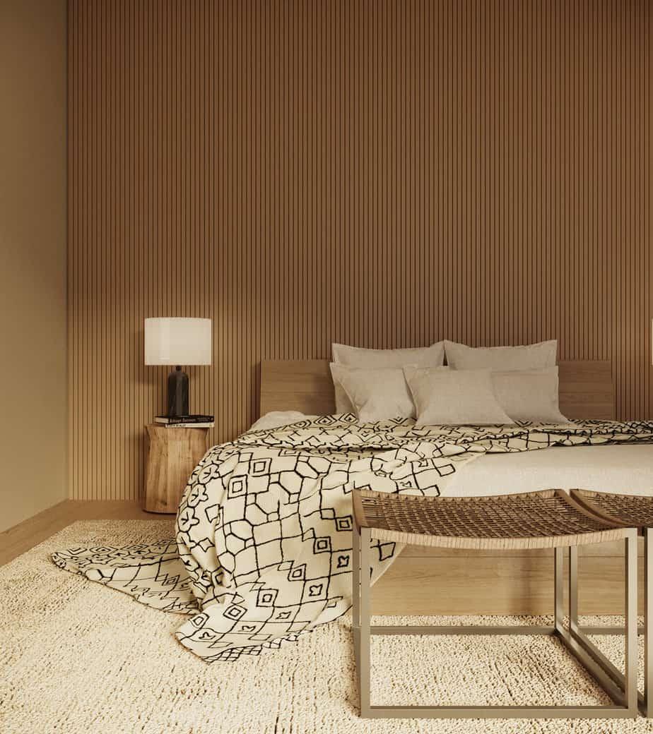 popular interior color trends 2021 spiced honey beige bedroom