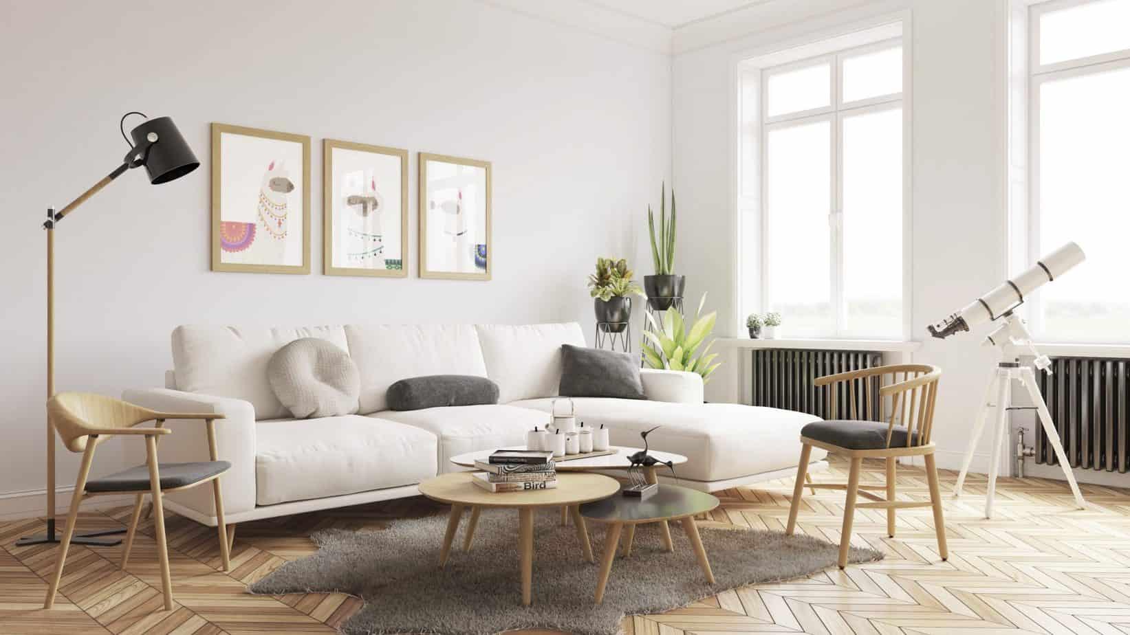 popular Living room furniture trends 2021 Scandinavian style furniture