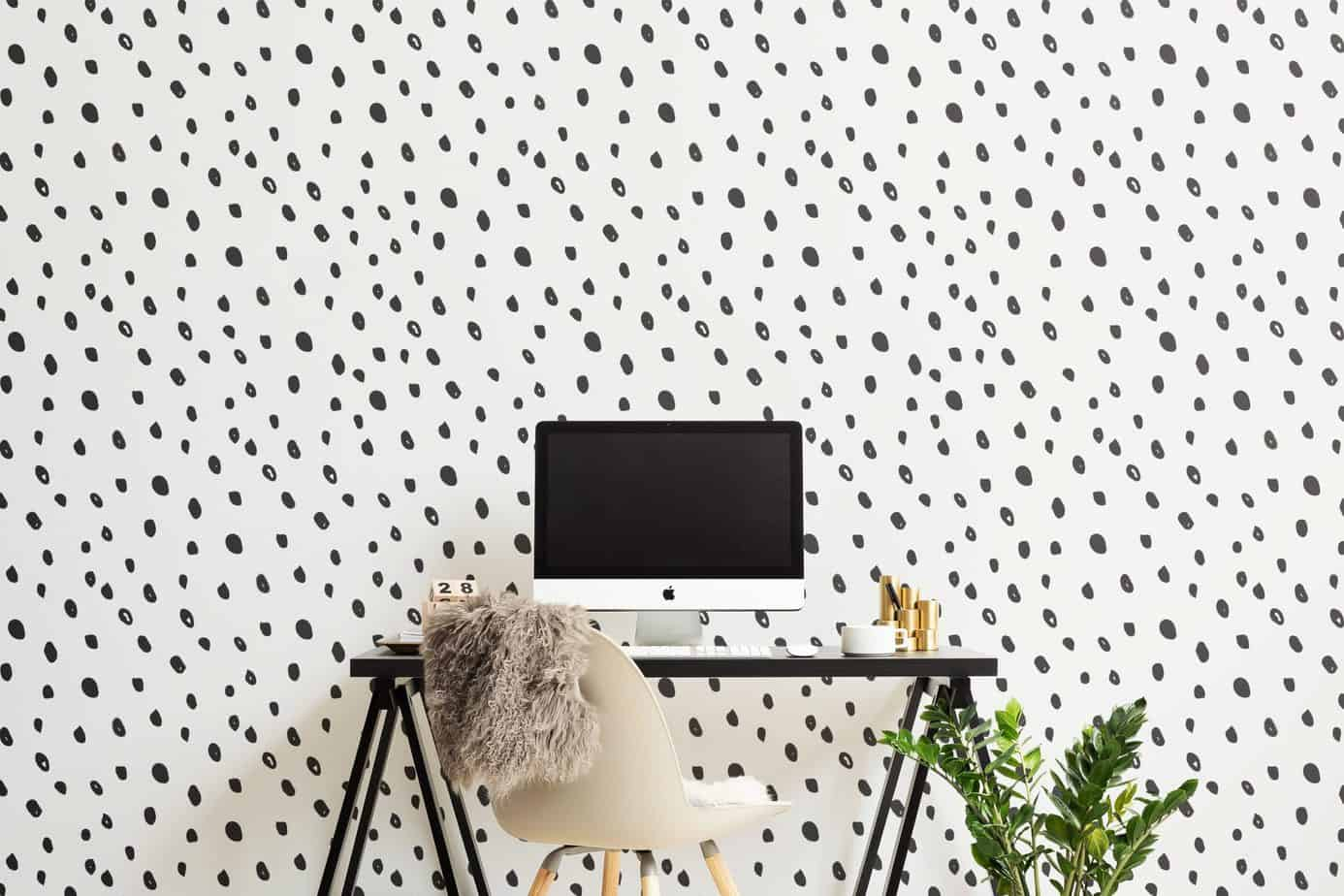 popular wallpaper for home office 2021 dalmatian print