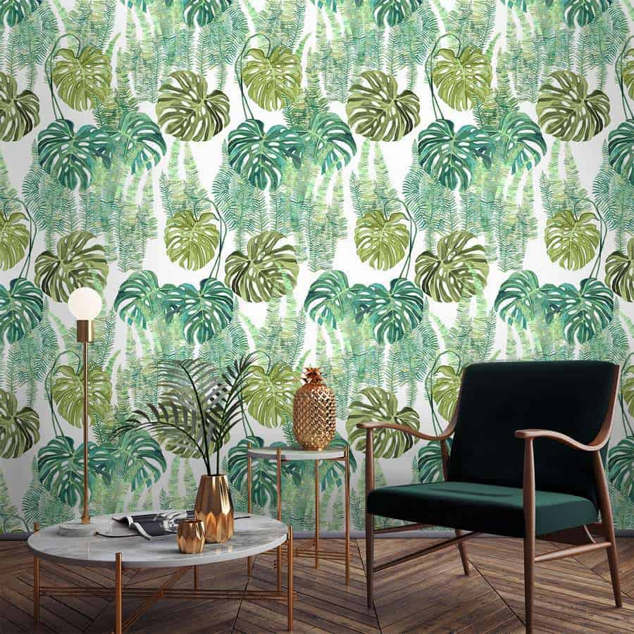 popular wallpaper ideas 2021 botanical patterns and tropical prints
