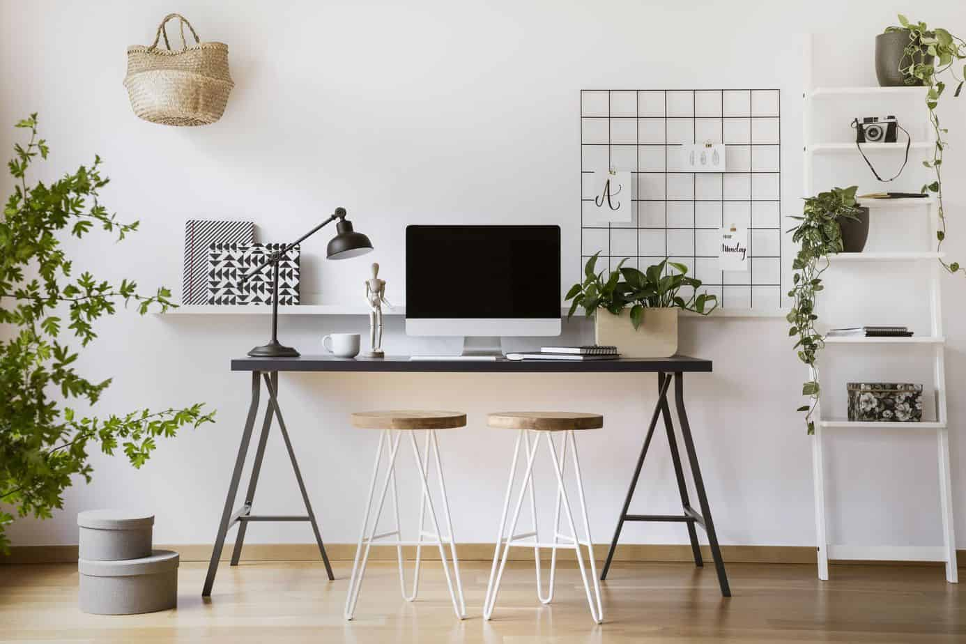 Scandinavian style home office 2021