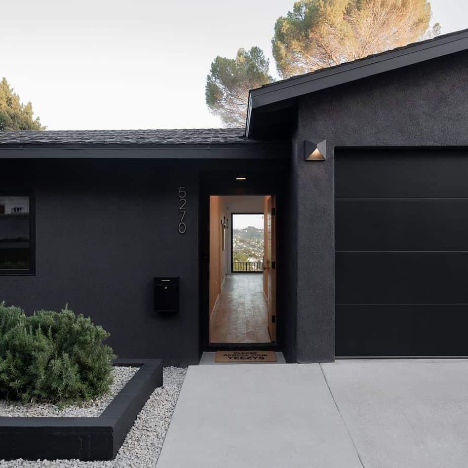 top exterior paint colors 2021 black modern house