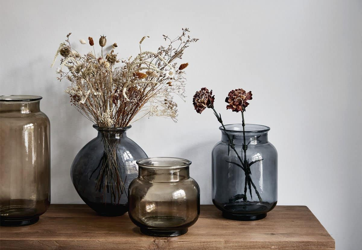 top Home decor trends 2021 recycled glass flower vases