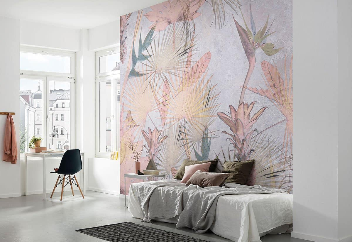 top wallpaper trends 2021 tropical and botanical patterns