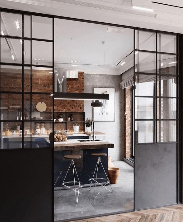Small Kitchen Ideas 2022: Glass Slider Doors