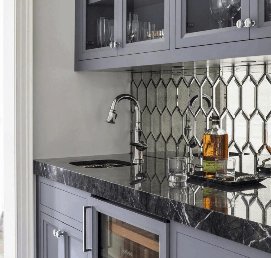 Best Kitchen Design 2022: Mirror Tiles