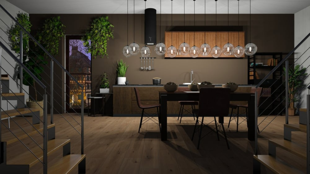 TV Over the Dining Area 2022