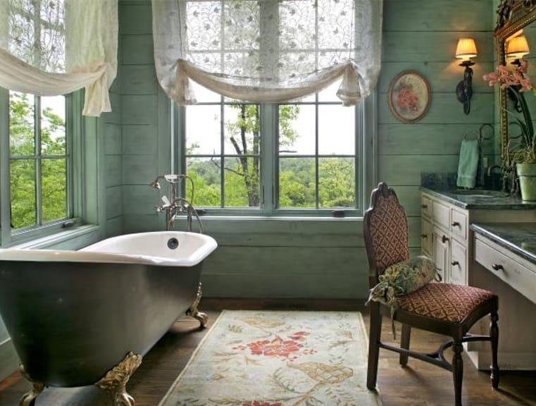 Bathroom Design Trends 2022: Curtains