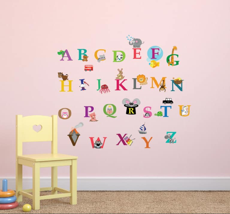 Alphabet wall for kids room 2022