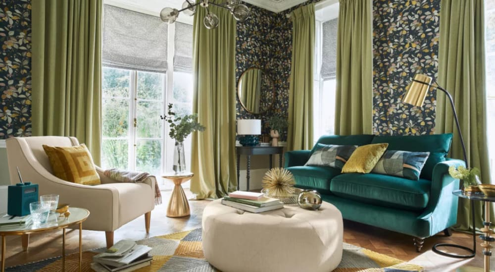 Curtain Trends 2022: Colors green