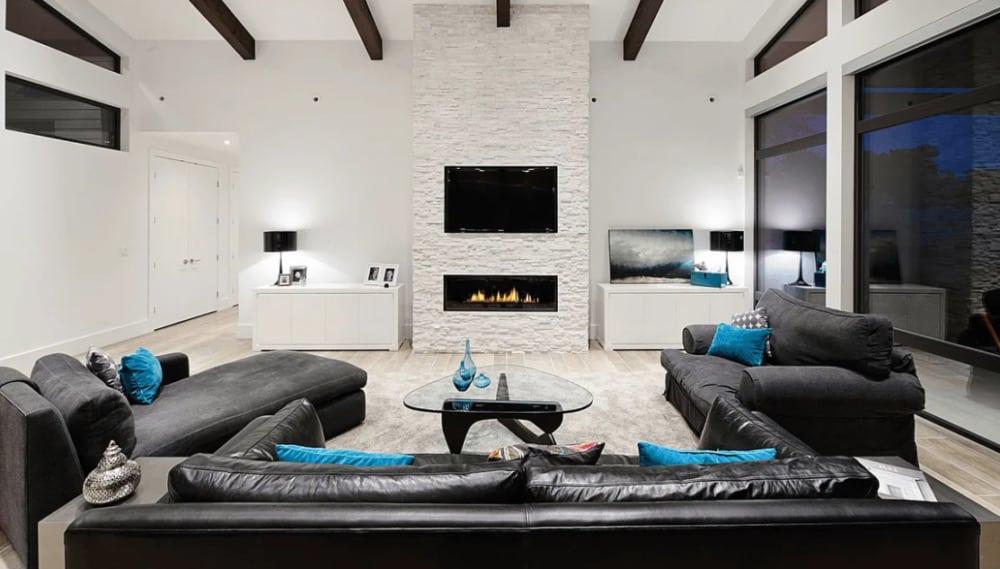Modern Living Room Design: High Technologies