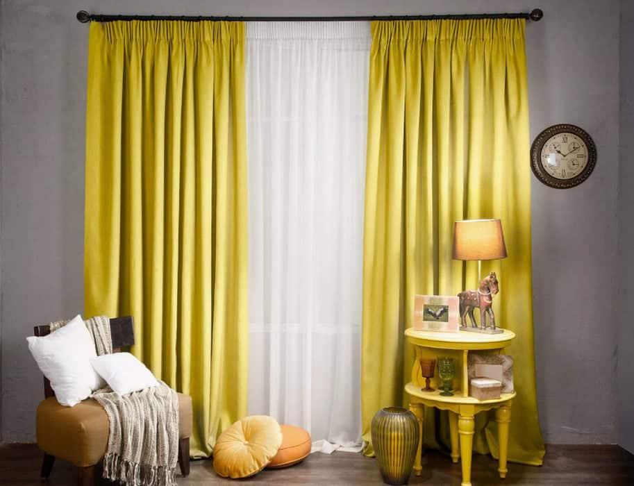 Curtain Trends 2022: Colors yellow